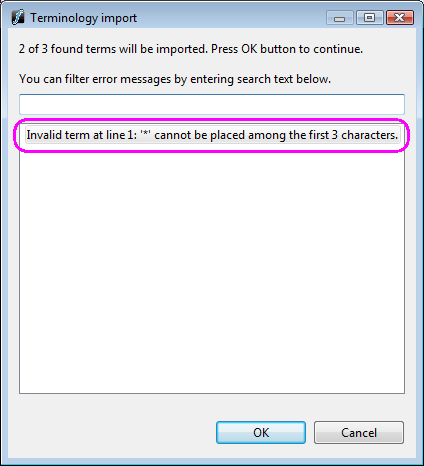 common error messages in wordfast pro wordfast wiki