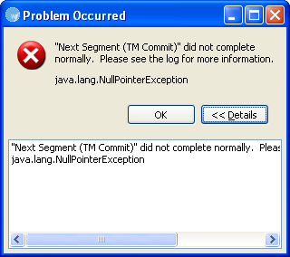 Common Error Messages in Wordfast Pro