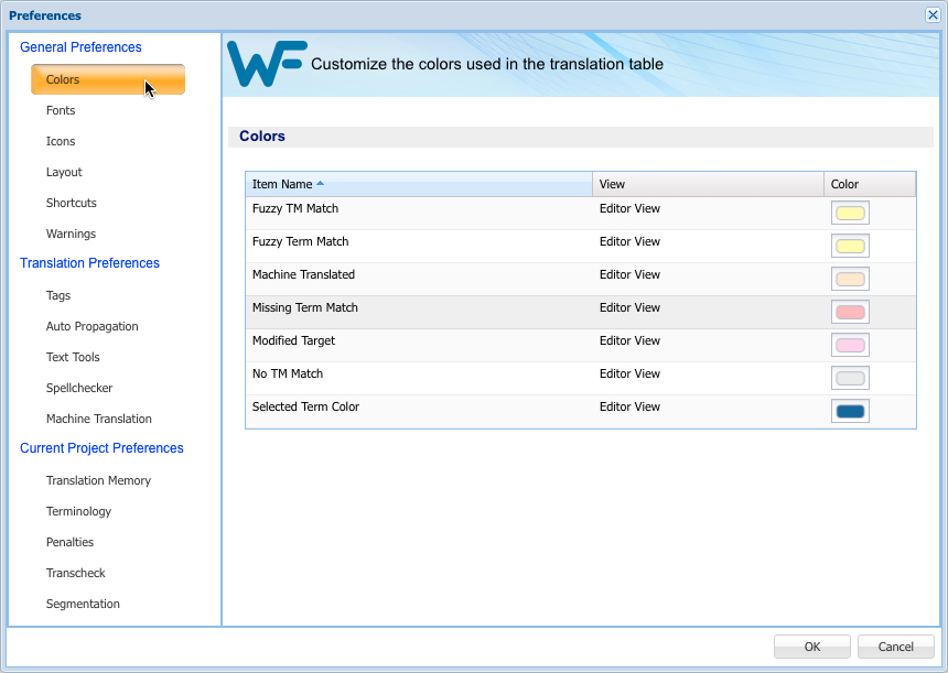 Segment Colors In Wordfast Pro 4 Wordfast Wiki