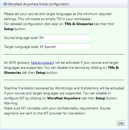 Wordfast Anywhere Initial configuration.JPG