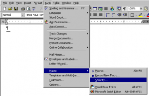 Installing WFC (MS Word 2000, XP & 2003 for Windows
